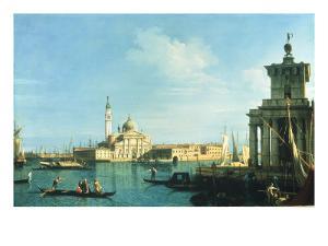 View of Venice from the Punta della Dogana towards San Giorgio Maggiore by Canaletto