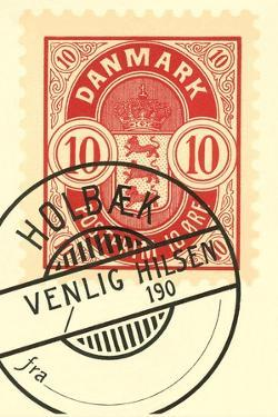 Cancelled Danish Stamp