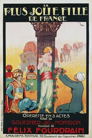 La Plus Jolie Fille De France Poster by Candido de Faria