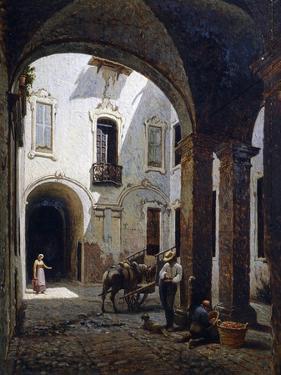 Casa Villa Courtyard, in Ospizi Civici Street, Parma by Candido Lopez
