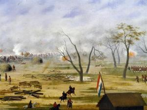 Paraguayan Army Encampment During War with Argentina by Candido Lopez