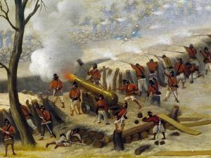 Paraguayan Artillery by Candido Lopez