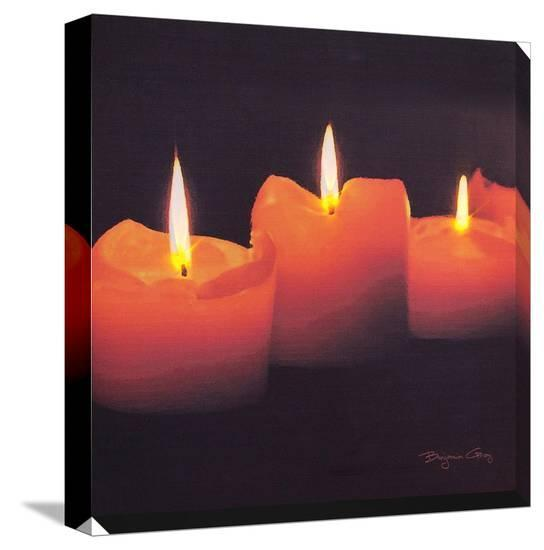 Candle Light--Stretched Canvas Print