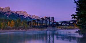 Canmore Engine Bridge on Bow River, Canmore, Alberta, Canada
