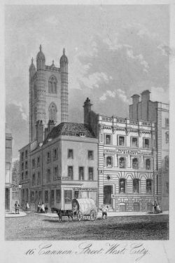 Cannon Street West, City of London, 1860