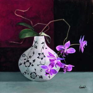 Jarrones Con Flores Malva I by Cano