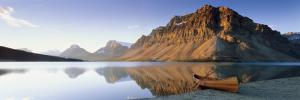 Canoe at the Lakeside, Bow Lake, Banff National Park, Alberta, Canada