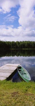 Canoe Docked in a Lake, Alaska, USA