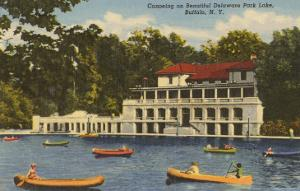 Canoing, Delaware Park Lake, Buffalo, New York