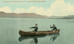 Canoing on Lake George, New York State