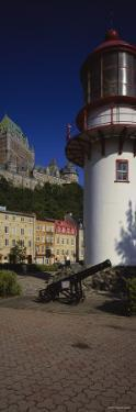 Canyon in Front of a Lighthouse, St. Lawrence River, Lower Town, Quebec City, Quebec, Canada