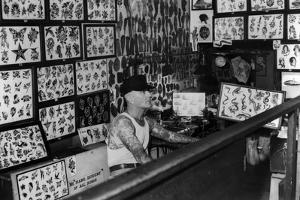Interior View of Cap Coleman's Tattoo Parlor, 1936 by Cap Coleman