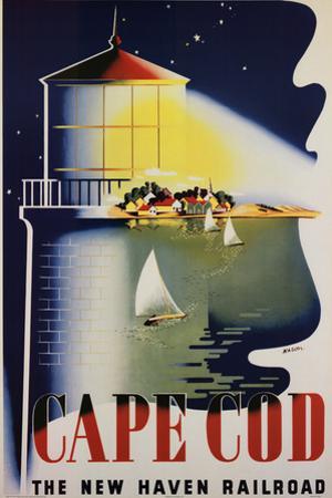 Cape Cod Vintage Ad Art Print Poster