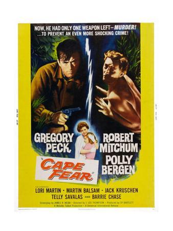 Cape Fear, Gregory Peck, Polly Bergen, Lori Martin, Robert Mitchum, 1962