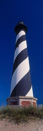 Cape Hatteras Lighthouse on the coast, Hatteras Island, Outer Banks, Buxton, North Carolina, USA
