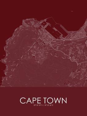 Cape Town, South Africa Red Map