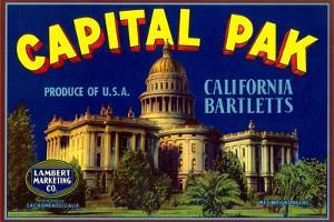 Capital Pak Pear Label