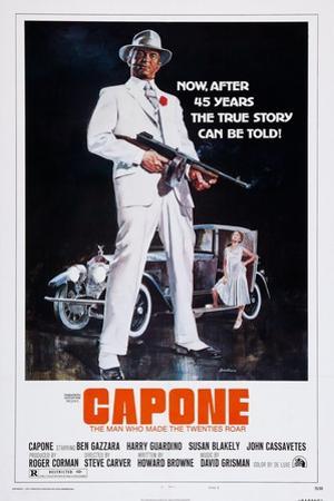 Capone, Front: Ben Gazzara; Back: Susan Blakely, 1975
