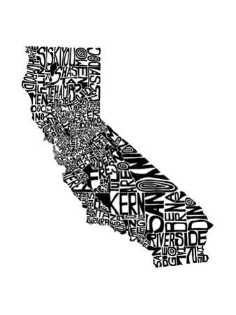 Typographic California by CAPow