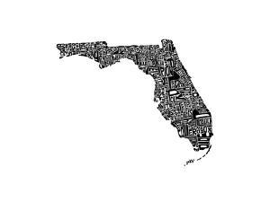 Typographic Florida by CAPow