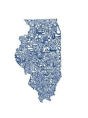 Typographic Illinois Blue by CAPow