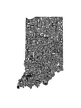 Typographic Indiana by CAPow