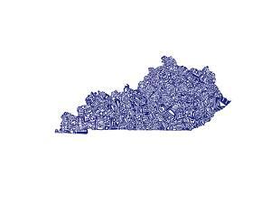 Typographic Kentucky Navy by CAPow