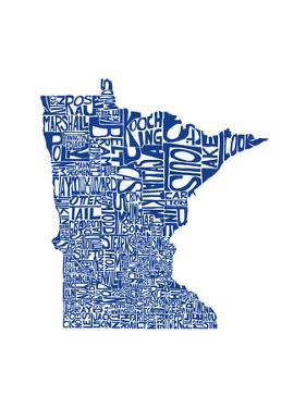 Typographic Minnesota Blue by CAPow
