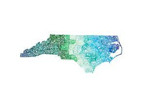 Typographic North Carolina Cool by CAPow