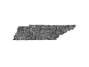 Typographic Tennessee by CAPow