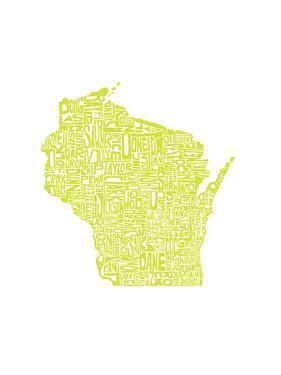 Typographic Wisconsin Chartreus by CAPow