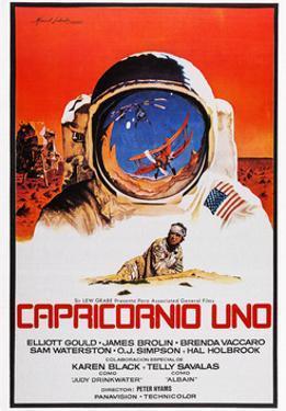 Capricorn One, (AKA Capricornio Uno), Spanish Language Poster Art, James Brolin, 1978