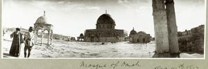 Mosque of Omar and General Chaytor Talking with a Local Imam, 14th December 1917 by Capt. Arthur Rhodes