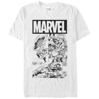 Captain America- Action In Black & White
