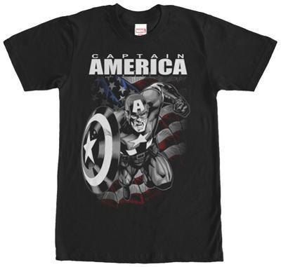 Captain America- Black & White Charge