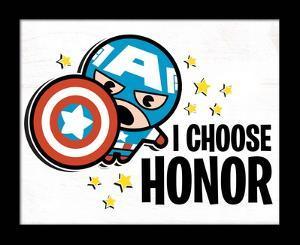 Captain America - I Choose Honor Deep Framed MDF Sign