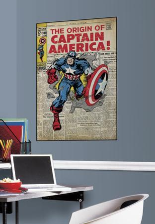 Captain America Peel & Stick Comic Cover Wall Decal