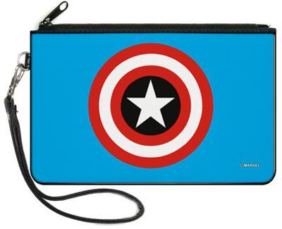 Captain America - Shield Blue Canvas Zipper Wallet