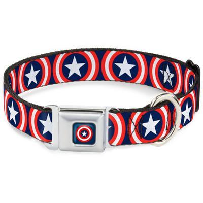 Captain America - Shield Dog Collar