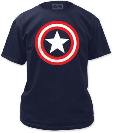 Captain America - Shield on Navy