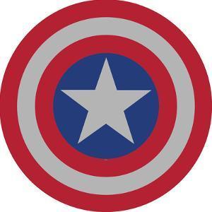Captain America Shield Tin Sign