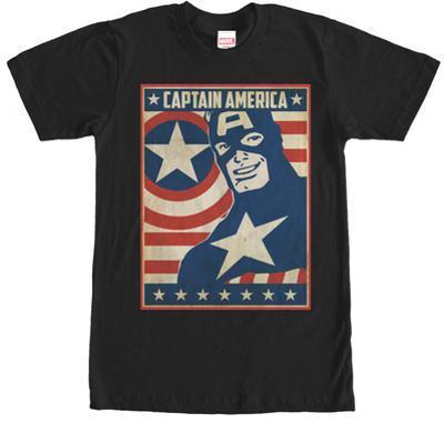 Captain America- Stars & Strips Poster