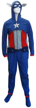 Captain America - Union Suit Adult Onesie