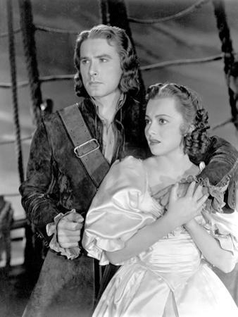 Captain Blood, Errol Flynn, Olivia De Havilland, 1935