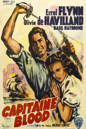 Captain Blood, German Movie Poster, 1935