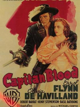 Captain Blood, Italian Movie Poster, 1935
