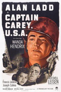 Captain Carey, U.S.A., Wanda Hendrix, Alan Ladd, 1950