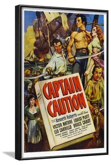 Captain Caution--Framed Art Print