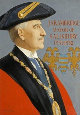 J. S. Rambridge, Mayor of Salisbury, 2002 by Captain Edward Henry Handley-Read