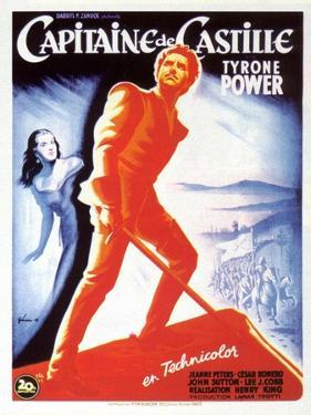Captain From Castile, French Movie Poster, 1947